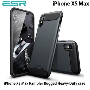 iPhoneXSMax ケース ESR イーエスアール iPhone XS Max Rambler Rugged case 衝撃吸収 ブラック 3A01187590101 ネコポス可|ec-kitcut
