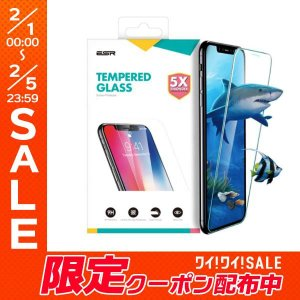 iPhoneXS / iPhoneX ガラスフィルム ESR イーエスアール iPhone XS / X Glass Film 9H 5倍強化 クリア 3A03183241902 ネコポス可|ec-kitcut