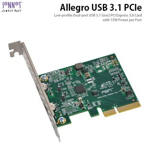 SONNET ソネット テクノロジー Allegro USB-C 2-Port PCIe Card  Thunderbolt compatible  USB3C-2PM-E ネコポス不可|ec-kitcut