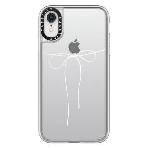 iPhoneXR ケース Casetify ケースティファイ iPhone XR grip clear TAKE A BOW II - BLANC CTF-4087600-7411904 ネコポス送料無料|ec-kitcut