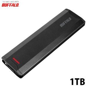 外付けSSD BUFFALO バッファロー USB3.1Gen2対応 ポータブルSSD 1TB ブラ...