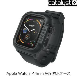 Apple watch Series5 / 4 44mm ケース Catalyst カタリスト Apple Watch 44mm Series 4 / 5 完全防水ケース ステルスブラック CT-WPAW1844-BK ネコポス不可|ec-kitcut