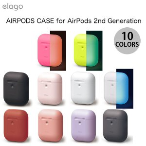 AirPods ケース カバー elago AirPods 第2世代 AIRPODS CASE for AirPods 2nd Generation Wireless Charging Case シリコンケース エラゴ ネコポス不可|ec-kitcut