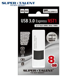 USBメモリ USB3.0 フラッシュメモリー SuperTalent スーパータレント USB3.0 Express NST1 ノック式 USBメモリ 8GB ST3U8NST1 ネコポス不可|ec-kitcut