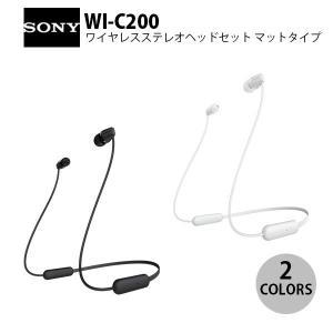 カナル イヤホン SONY WI-C200 Bluetooth ワイヤレス ステレオヘッドセット カ...