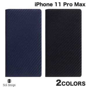 iPhone 11 Pro Max ケース SLG Design iPhone 11 Pro Max carbon leather case 本革 カーボン柄 手帳型ケース エスエルジー デザイン ネコポス不可|ec-kitcut