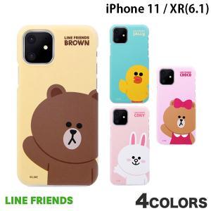 iPhone 11 / XR ケース LINE FRIENDS iPhone 11 / XR SLIM FIT BASIC ラインフレンズ ネコポス送料無料|ec-kitcut
