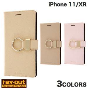 iPhone 11 / XR ケース Ray Out iPhone 11 / XR 耐衝撃 手帳型レザーケース TETRA サイドマグネット リング付き  レイアウト ネコポス送料無料|ec-kitcut