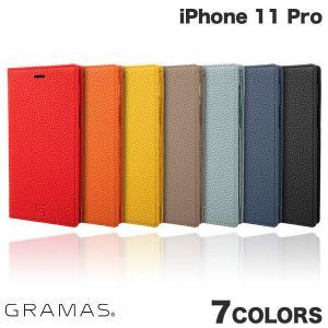 iPhone 11 Pro ケース GRAMAS iPhone 11 Pro Shrunken-calf Leather Book Case  グラマス ネコポス不可 ec-kitcut