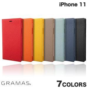 iPhone 11 ケース GRAMAS iPhone 11 Shrunken-calf Leather Book Case  グラマス ネコポス不可 ec-kitcut