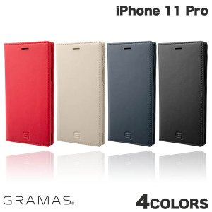 iPhone 11 Pro ケース GRAMAS iPhone 11 Pro Genuine Leather Book Case  グラマス ネコポス不可 ec-kitcut
