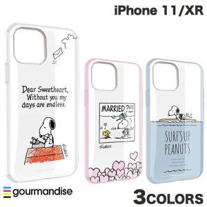 iPhone 11 / XR ケース gourmandise iPhone 11 / XR ケース IIIIFIT CLEAR ピーナッツ  グルマンディーズ ネコポス送料無料 ec-kitcut