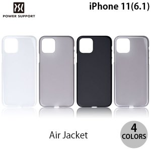 iPhone 11 ケース PowerSupport iPhone 11 エアージャケット  パワーサポート ネコポス送料無料 ec-kitcut