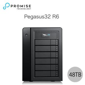 Promise Pegasus32 R6 48TB 8TBx6 Thunderbolt 3 / USB 3.2 Gen2 対応 ストレージ 6ベイ ハードウェア RAIDエンクロージャ ヤマト便配送|ec-kitcut