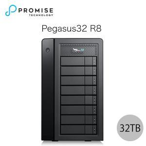 Promise Pegasus32 R8 32TB 4TBx8 Thunderbolt 3 / USB 3.2 Gen2 対応 ストレージ 8ベイ ハードウェア RAIDエンクロージャ ヤマト便配送|ec-kitcut
