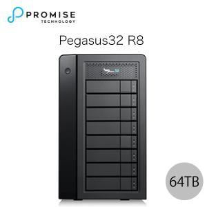 Promise Pegasus32 R8 64TB 8TBx8 Thunderbolt 3 / USB 3.2 Gen2 対応 ストレージ 8ベイ ハードウェア RAIDエンクロージャ ヤマト便配送|ec-kitcut