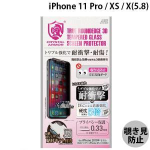 apeiros アピロス iPhone 11 Pro / XS / X クリスタルアーマー 3D 耐衝撃 ガラスフィルム 覗き見防止  0.33mm GI13-3DP ネコポス送料無料 ec-kitcut