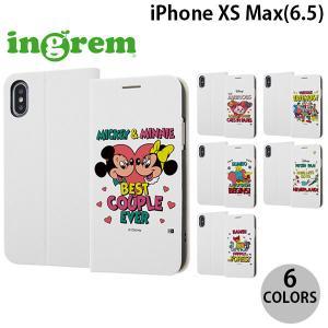 iPhoneXSMax ケース ingrem iPhone XS Max ディズニーキャラクター 手帳型ケース マグネットタイプ レトロ  イングレム ネコポス送料無料|ec-kitcut