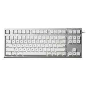 東プレ トープレ REALFORCE TKL for Mac 英語配列 変荷重 87キー テンキーレスキーボード 無接点スイッチ シルバー/白 ネコポス不可|ec-kitcut