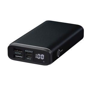 モバイルバッテリー GreenHouse グリーンハウス モバイルバッテリー 残量表示付き 3ポート PD対応 10000mAh ブラック GH-BTPF100-BK ネコポス不可|ec-kitcut