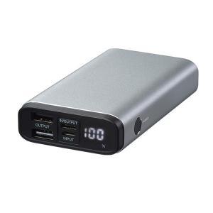モバイルバッテリー GreenHouse グリーンハウス モバイルバッテリー 残量表示付き 3ポート PD対応 10000mAh シルバー GH-BTPF100-SV ネコポス不可|ec-kitcut