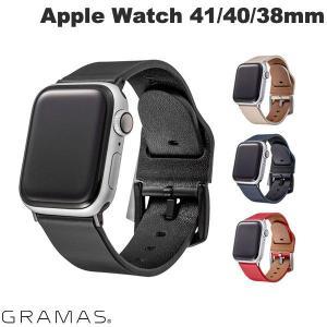 Apple Watch バンド GRAMAS Apple Watch 38mm / 40mm Italian Genuine Leather Watchband  グラマス ネコポス送料無料 レザー 革|ec-kitcut