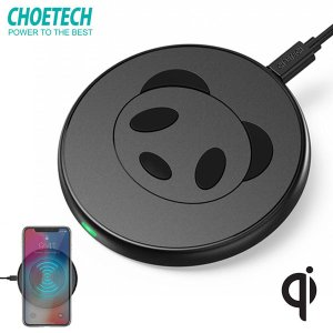 ワイヤレス充電器 Choetech チューテック Wireless charger Panda ワイヤレス Qi 最大10W 急速充電対応 BLCTT528S-BK ネコポス送料無料|ec-kitcut