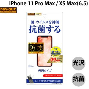 Ray Out レイアウト iPhone 11 Pro Max / XS Max フィルム 指紋防止 光沢 抗ウイルス RT-P22F/AGP ネコポス可|ec-kitcut