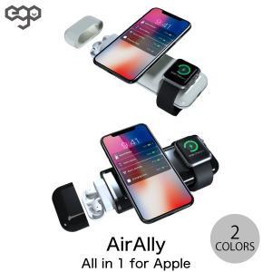 モバイルバッテリー EGO INNOVATION LTD AirAlly エアーアリー All-in-1 for Apple Qi対応 ワイヤレス モバイルバッテリー 10000mAh ネコポス不可|ec-kitcut