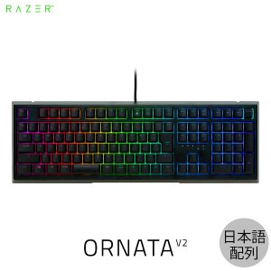 キーボード Razer レーザー Ornata V2 JP 日本語配列 マルチライティング メカ・メンブレン ゲーミングキーボード RZ03-03381500-R3J1 ネコポス不可|ec-kitcut