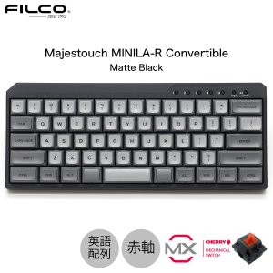 FILCO Majestouch MINILA-R Convertible CHERRY MX 赤軸 英語配列 63キー 有線 / Bluetooth 5.1 ワイヤレス 両対応 マットブラック ネコポス不可|ec-kitcut