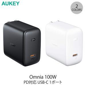 iPhone用充電器 AUKEY USB充電器 Omnia 100W PD対応 USB Type-C 1ポート オーキー ネコポス不可|ec-kitcut