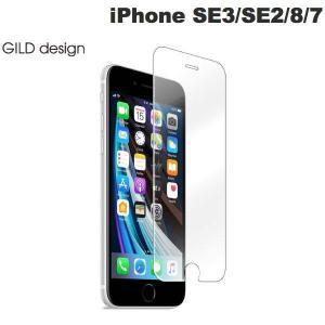 GILD design iPhone SE 第2世代 / 8 / 7 クリスタルアーマー 強化ガラス 液晶保護フィルム 抗菌 耐衝撃 ラウンドエッジ 0.33mm ネコポス不可|ec-kitcut