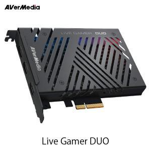 AVerMedia TECHNOLOGIES LIVE GAMER DUO デュアル 1080p/60fps 対応 PCI Express x4 Gen2 キャプチャーボード ネコポス不可 ec-kitcut