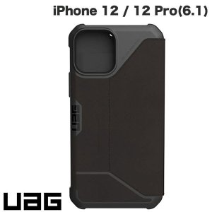 UAG ユーエージー iPhone 12 / 12 Pro METROPOLIS 耐衝撃 フォリオケース レザーブラック UAG-IPH20MF-LBK ネコポス送料無料|ec-kitcut