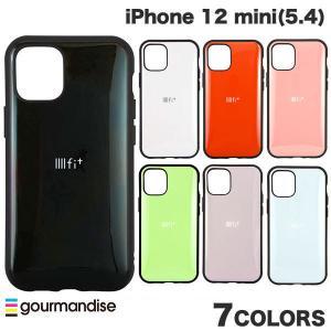 iPhone 12 mini ケース gourmandise iPhone 12 mini IIIIfi+ イーフィット 抗菌  グルマンディーズ ネコポス送料無料 ec-kitcut