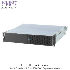 SONNET ソネット テクノロジー Echo III Rackmount 3-Slot Rackmount Thunderbolt 3 to PCIe Card Expansion System ECHO-3R-TB3 ネコポス不可|ec-kitcut