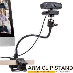 エレコム ELECOM WEBカメラ用 アームクリップスタンド GoPro用アダプタ付属 ブラック UCAM-DSCLP30BK ネコポス不可|ec-kitcut