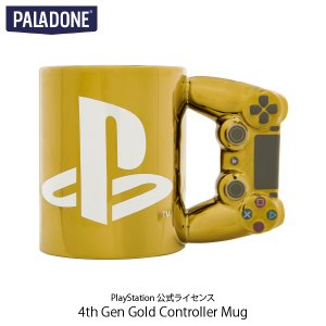 キッチン PALADONE パラドン PlayStation 4th Gen Gold Controller Mug DUALSHOCK 4 PlayStation 公式ライセンス品 PLDN-002-N ネコポス不可|ec-kitcut