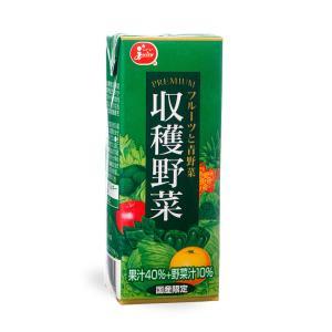 ジューシープレミアム 収穫野菜フルーツと青野菜【200ml紙×24本入】|ec-kumakaren