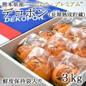 熊本県産 デコポン こだわり・プレミアムデコポン(後期熟成)【約3kg・8又は10玉入】|ec-kumakaren