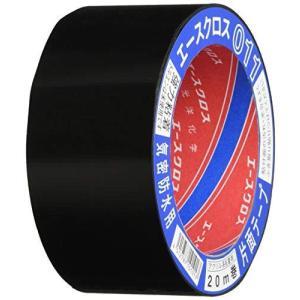光洋化学 気密防水テープ エースクロス アクリル系強力粘着 片面テープ 011 黒 50mm×20M ec-malls