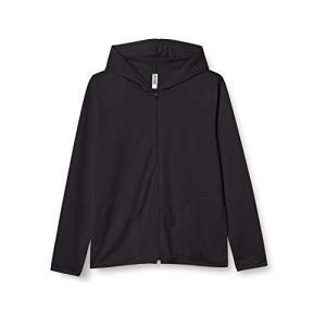 [グリマー] 長袖 4.4オンス ドライ UV ジップ パーカー 00338-AMZ メンズ ブラック M (日本サイズM相当) ec-malls