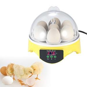 自動孵卵器 7卵 ミニ デジタル 孵卵機 透明 卵の孵化機 自動温度制御 鶏卵 アヒル うずら 家庭用 ec-malls