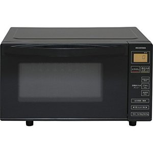アイリスオーヤマ 電子レンジ 18L フラットテーブル ヘルツフリー 600W 全国対応 シンプル操作 ブラック IMB-FV1801の画像