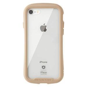 iFace Reflection iPhone SE 2020 第2世代/8/7 ケース クリア 強化ガラス [ベージュ] ec-malls