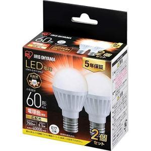 アイリスオーヤマ LED電球 口金直径17mm 広配光 60W形相当 電球色 2個パック 密閉器具対応 LDA7L-G-E17-6T62P ec-malls