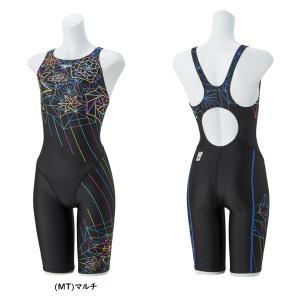 スピード レディース 競泳水着 FLEX ΣII セミオープンバックニースキン(II) speedo SD48H56 ★14800 ec-selector