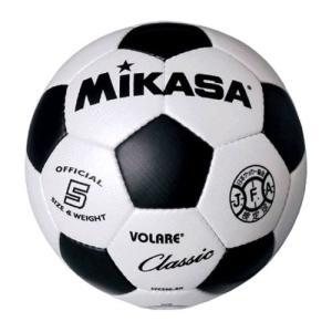 【ミカサ サッカーボール ホワイト×ブラック】mikasa 検定球5号 SVC500-WBK|ec-selector