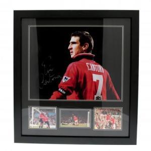 Manchester United F.C. Cantona Signed Framed Print / マンチェスター・ユナイテッドFCカントナ署名額入りプリント